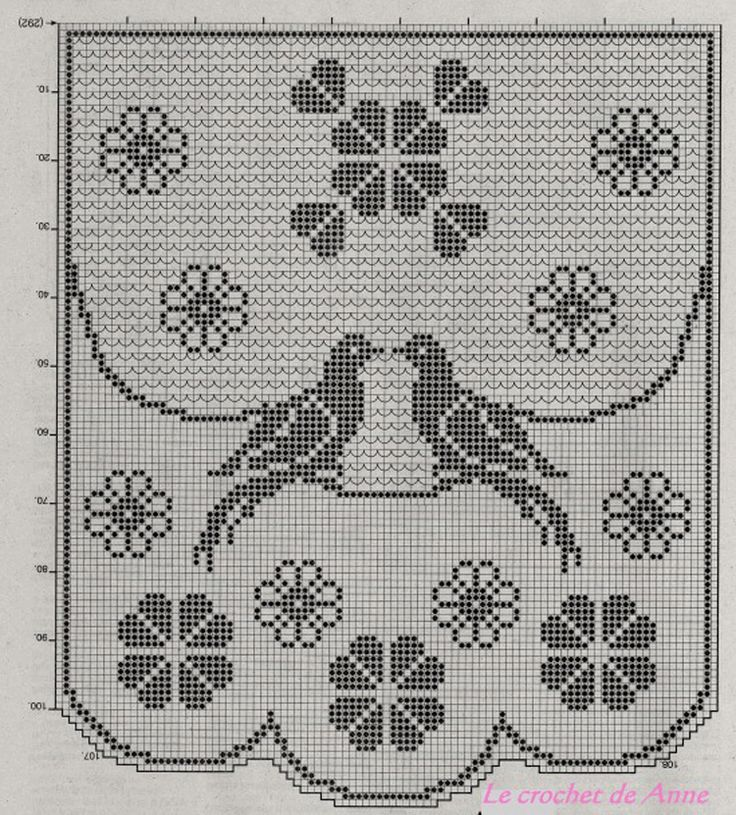 Салфетки-с-птицами-овальная-и-круглая-3-крючок схема 2