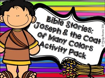 Joseph and the Coat of Many Colors Activity Pack | Coats ...