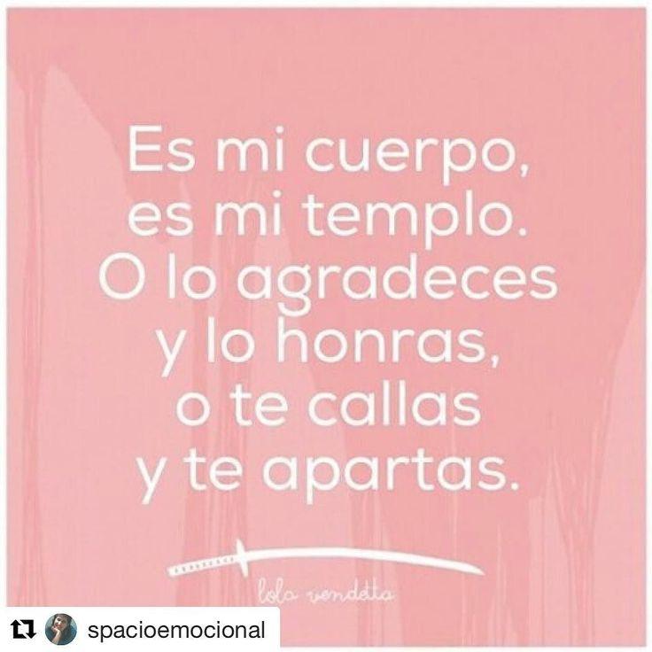 #Repost @spacioemocional with @repostapp  Esto lo podemos decir a la #pareja pero el mensaje mas profundo es hacia nosotras mismas: agradezcamos y honremos nuestros cuerpos !!! #respetoasímisma #repost @lola.vendetta #mujer #feminidad