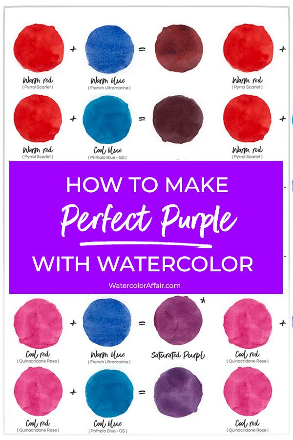 How To Make A Perfect Purple With Watercolor Purple Painting