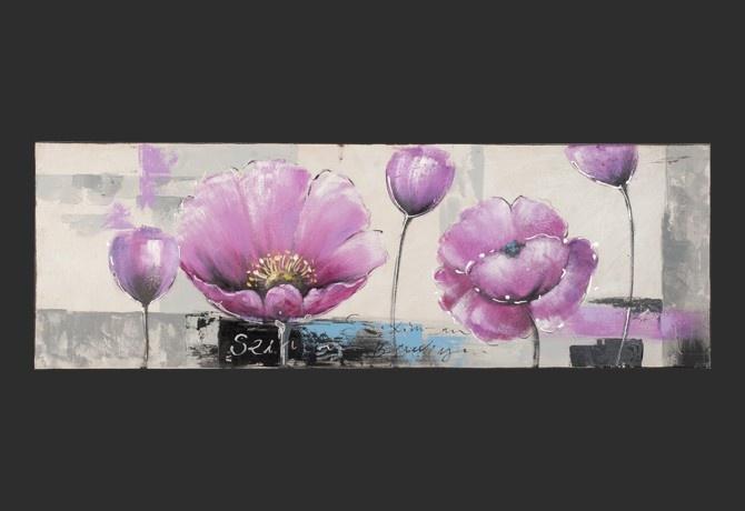Quadro Moderno \'Anemone Lilla\' | Quadri di fiori dipinti a mano su ...