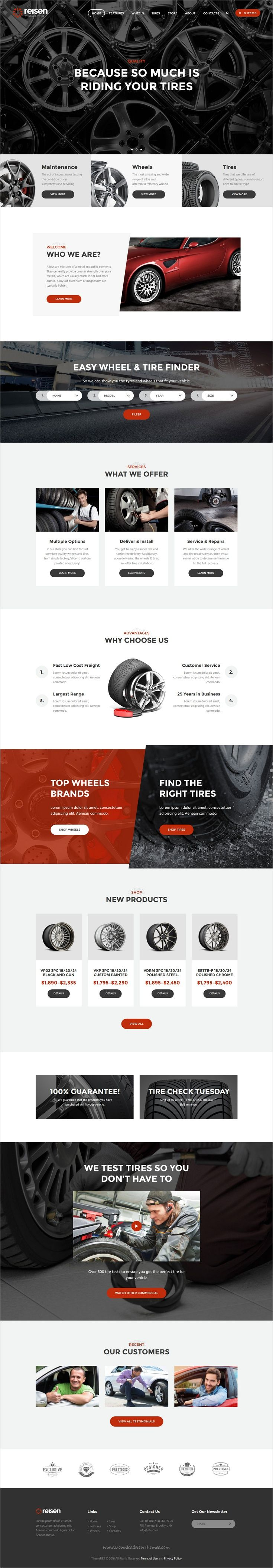 Reisen is a unique and modern design responsive #WordPress theme for #tires #wheels, car #repair shops or garages website with 4 different homepage layouts download now➩ https://themeforest.net/item/reisen-automechanic-car-repair-theme/18891512?ref=Datasata
