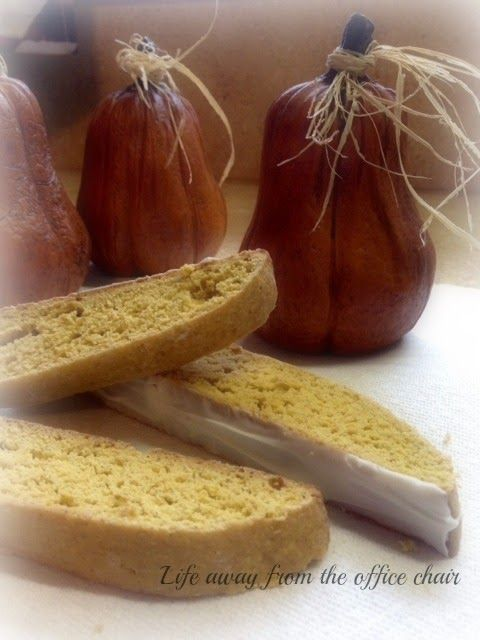 Ok all you coffee lovers out there. Here is a wonderful recipe for Biscotti with a touch of Autumn, and spice. Perfect dipped in your favori...