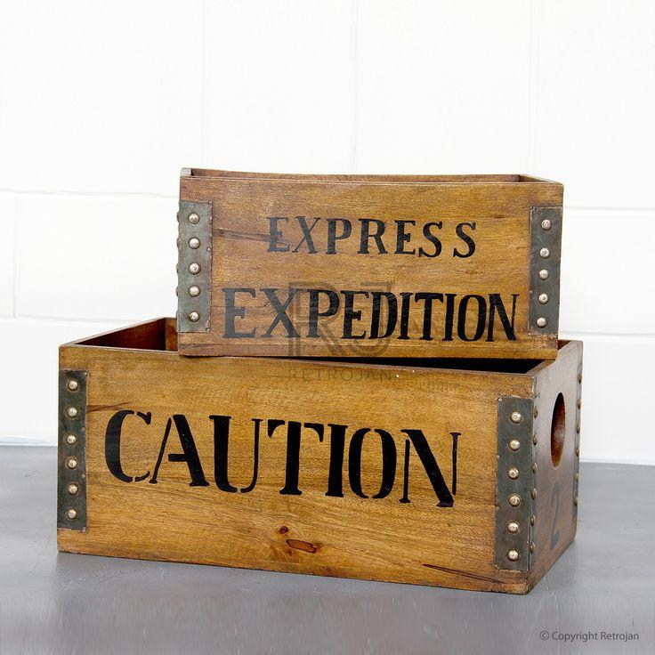 Buy Ryan Wood Crates Online | Storage Solutions - Retrojan