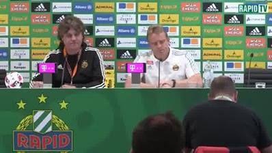 RAPID-TV Live: Die Pressekonferenz nach dem Österreichische Fußball-Bundesliga Heimspiel des SK Rapid Wien gegen SV Mattersburg #SCRSVM