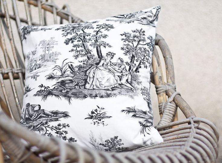 Pillow cover vintage toile de jouy french country 16 x 16 for Toile shabby chic