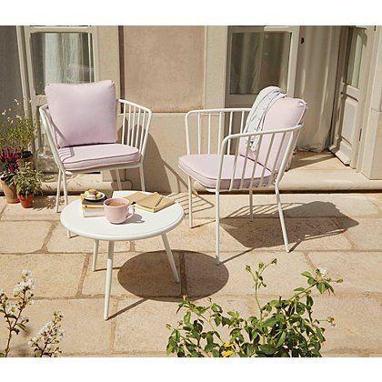 Impressions 3 Piece Bistro Set - Heather | Garden Furniture | George at ASDA