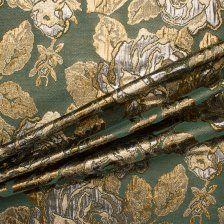Buy Green/Silver/Gold Metallic Brocade online - Joel & Son Fabrics (London)