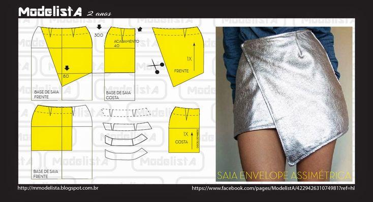 ModelistA: COMO INVESTIR NA ASSIMETRIA? Envelope Skirt