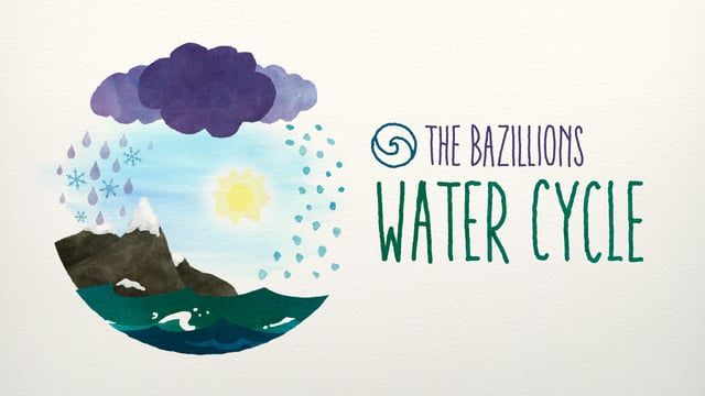 eg design (http://www.eee-gee.com) chose animated watercolor to tell the story of precipitation, accumulation, evaporation, and condensation that makes the water cycle go! It's a tribute to the wide range of organic pre-digital animation styles featured on classics like Sesame Street and Electric Company. And it's one of our favorite Bazillions songs to date! Enjoy!  Behind the scenes: https://vimeo.com/142828556  Find out more about The Bazillions at http://www.thebazillions.com