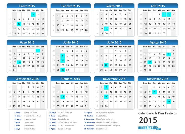 calendario colombia 2015 con lunas - Buscar con Google
