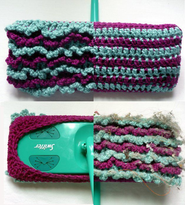 CRAFT Pattern: Crocheted Reversible Swiffer Sock | Make: DIY Projects, How-Tos, Electronics, Crafts and Ideas for Makers | MAKE: Craft