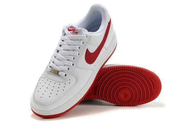 nike air force 1 rojas y blancas