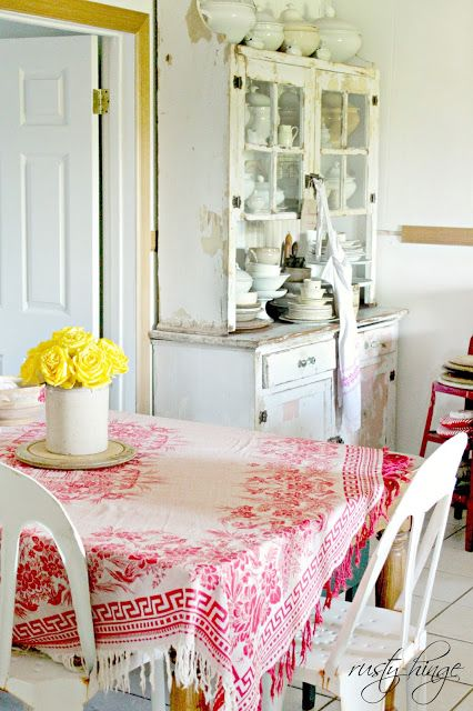 White Kitchen Vintage 196 best vintage red and white kitchens. images on pinterest