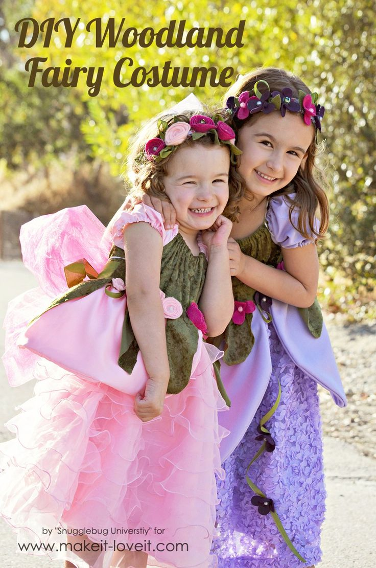 DIY Woodland Fairy Costume. Learn how to make your own fairy dress, fairy slippers, and fairy wings. | via Make It and Love It