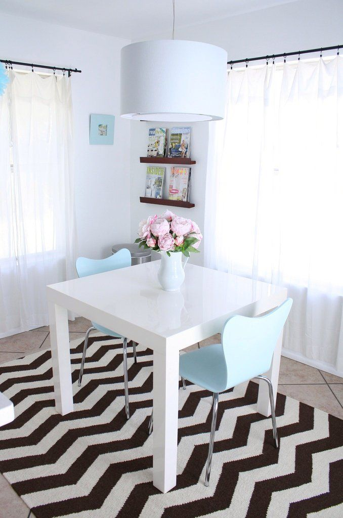 The Lovely Side Chevron Chic Dining Room Parsons Table As Space But No