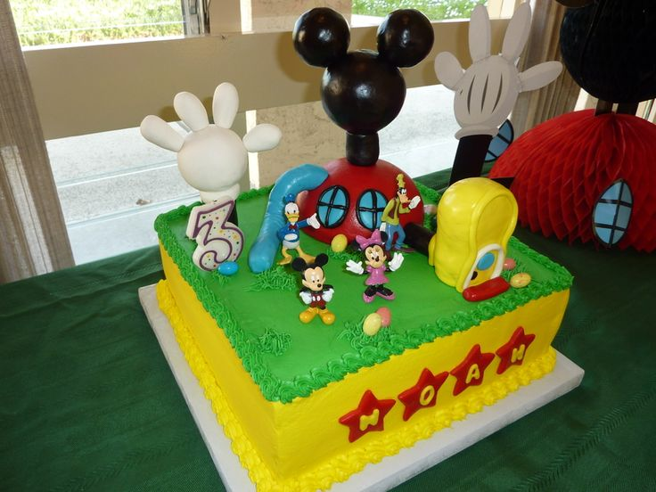 Mickey Mouse Club House Cake.  Parts are made from Rice...