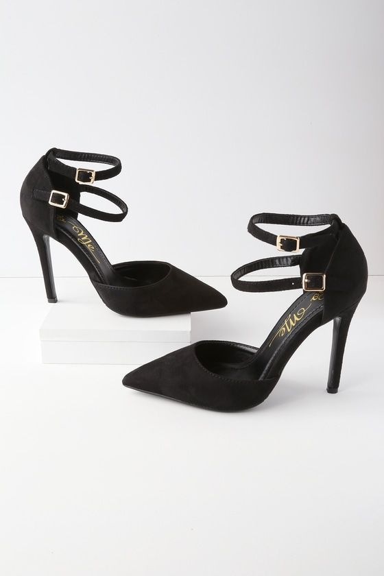 5450964e508 Show off your sophisticated style with the Emanuelle Black Suede ...