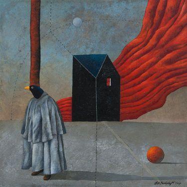 "Saatchi Art Artist Alex Berdysheff - painting, ""Regrets"""