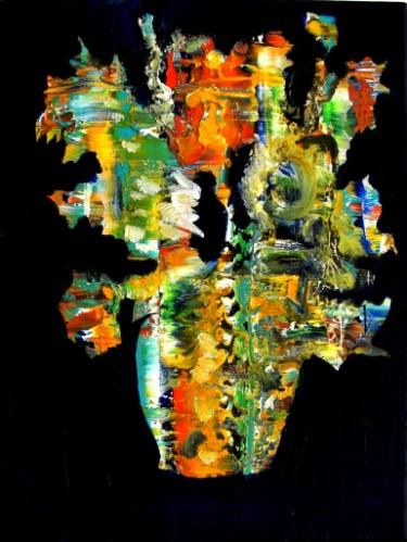 """Saatchi Art Artist Paolo Cervino; Painting, """"About poetry n. 73- vincent's sunflowers"""" #art"""