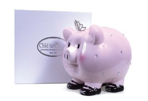 Child to Cherish Large Princess Girl Pig Bank with Keepsake Gift Box $38.00 Sold At Baby Family Gifts Amazon
