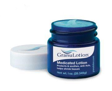 GranuLotion®   OTC Medicated Lotion   1 oz. Jars – GranuLotion® - OTC Medicated Lotion - Gently Helps Shrink Tissues!