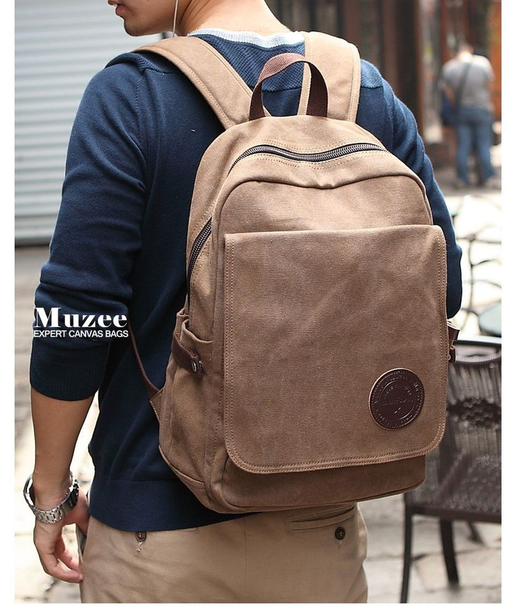 Muzee+men's+backpack+style+,fashion+casual+canvas+backpack+school+bags+for+male,+travel+bag