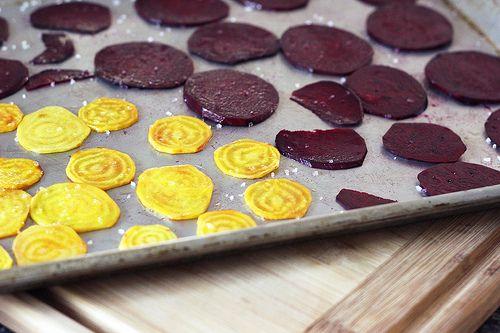 Crispy Baked Beet Chips – Gluten-free + Vegan...delicious!