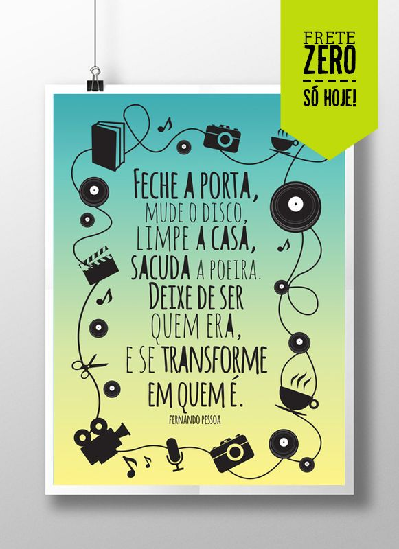 Pôster Fernando Pessoa - R$30