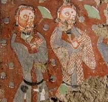 Kizil cave donor figures, Tarim Basin, Central Asia