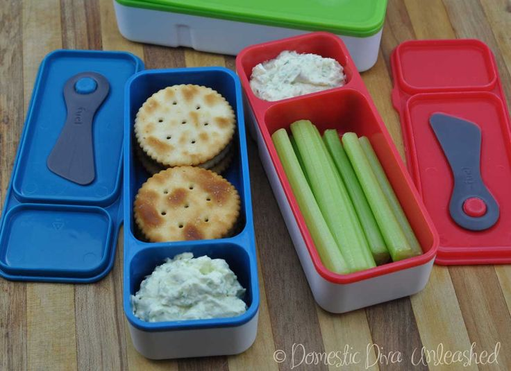 Domestic Diva: Philly Herb Dip for Lunch Boxes