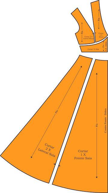 MIB - Modelagem Industrial Brasileira: Vestido Longo https://www.pinterest.com/Collettorosco/sewing/