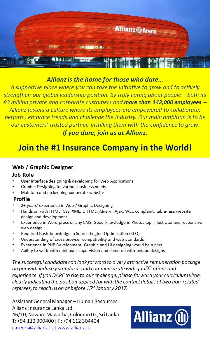 17 best ideas about allianz karriere abschied we seek candidate for web graphic designer position you need ability to work minimum supervision and come up unique design
