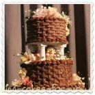 cioccolato basketweaved torta collegamento cliccabili nuziale