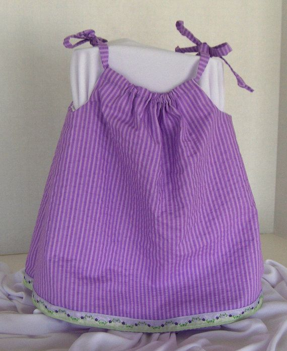 Purple sundress/top with flower trim and diaper by OneofaKindA, $18.00