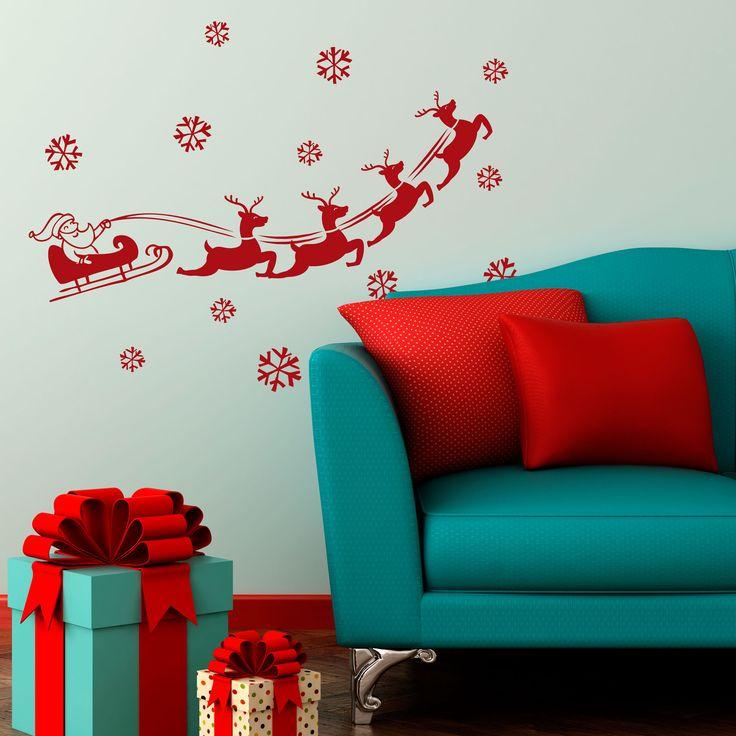 Vinilo Decorativo Navidad - Trineo con renos. Encuéntralo en www.pick2stick.com desde 23,10€