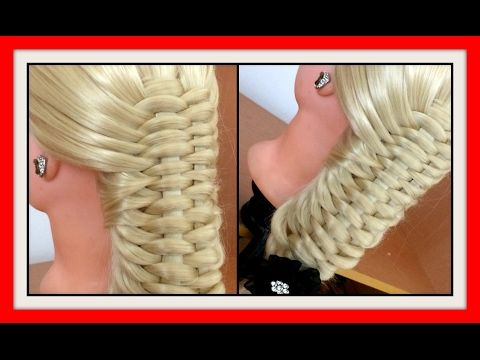 2STRAND WOVEN BRAID HAIRSTYLE / HairGlamour Styles /  Hairstyles &#x2F…