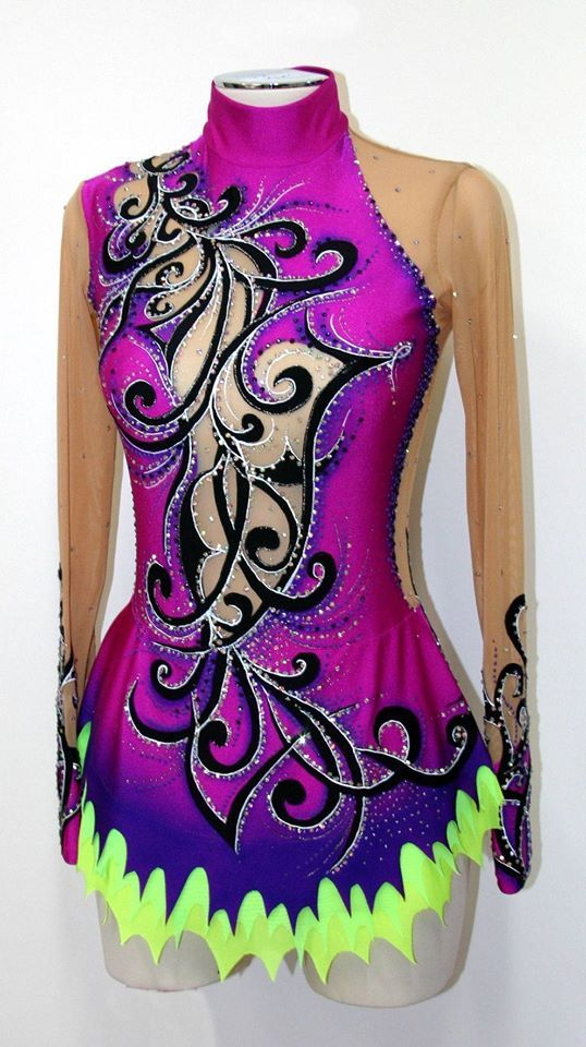 purple rhythmic leotard by www.paintyourdream.it