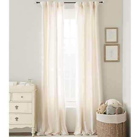 Thick heavy duty quality curtains cream with a pole longer then the window so they can be fully opened to see the whole window!!!!!