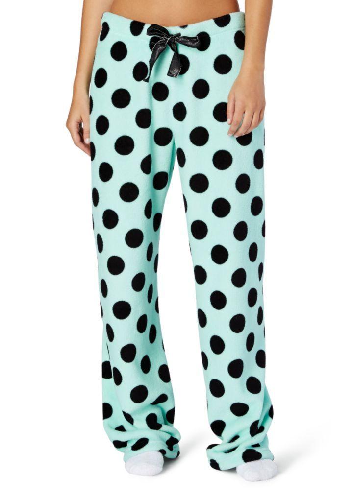 Mint Jumbo Dot Plush PJ Pant | Pants | rue21