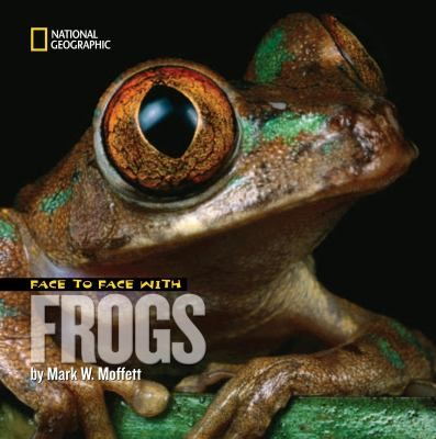 "National Geographic photographer Moffett introduces readers to frogs, some smaller than dimes and some larger than chickens. Biting, hopping, crawling, sometimes camouflaged in leaf litter, other times in vibrant warning colors, the frogs leap and pose in riveting close-ups. Sidebars provide such details as ""how to sing like a frog."" Throughout, the need for conservation is stressed. Reading list, websites"