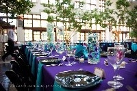 Purple & turquoise wedding - Click image to find more Weddings Pinterest pins