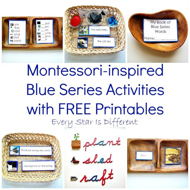 Montessori Inspired Blue Series Activities With FREE Printables