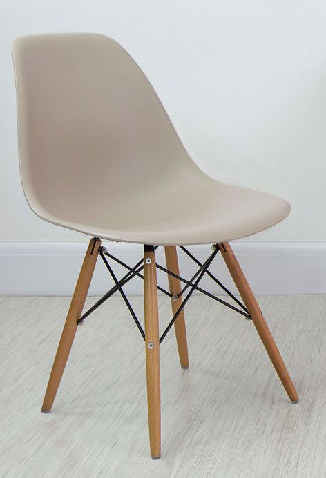 Taupe Grey Eames Style Dining Chair from Danetti.