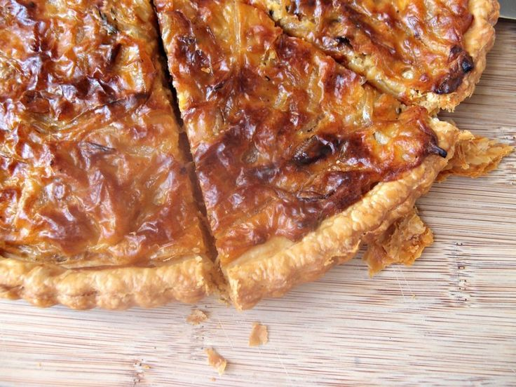 The ultime onion tart, a French comfort food. Recipe here! #foodrepublic