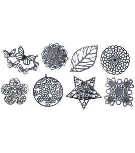 Boxed Filigree Embellishment Assortment 80 Pieces-Old Silver 2 & Embellishments at Joann.com