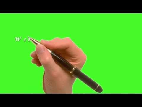 Green screen  hand - Nowy Rok 2015 - YouTube