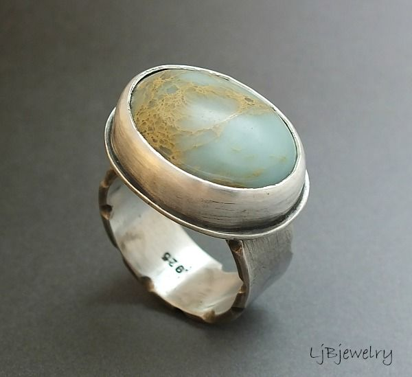 Cool sterling silver necklaces - Sterling silver and ceramic wrap ring