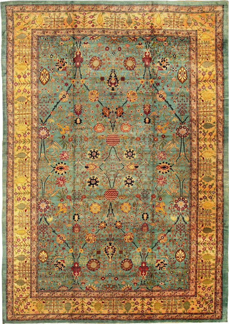 Persian carpet. How could you walk over it and not look down?