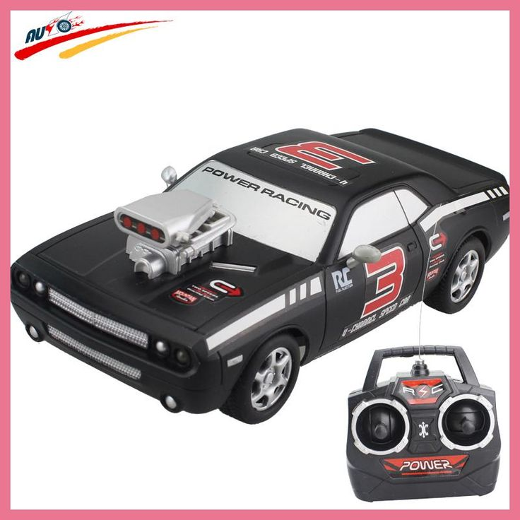RC Car For Dodge Challenger 4CH High Speed Racing Car Remote Control Vehicle Model Off-Road Toy Electronic Model Toys Hobby